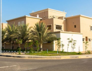 View of villa in MBZ City, one of the top area to look for 5-bedroom villa for rent in Abu Dhabi under AED 180