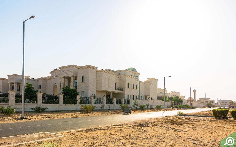View of villas in MBZ City