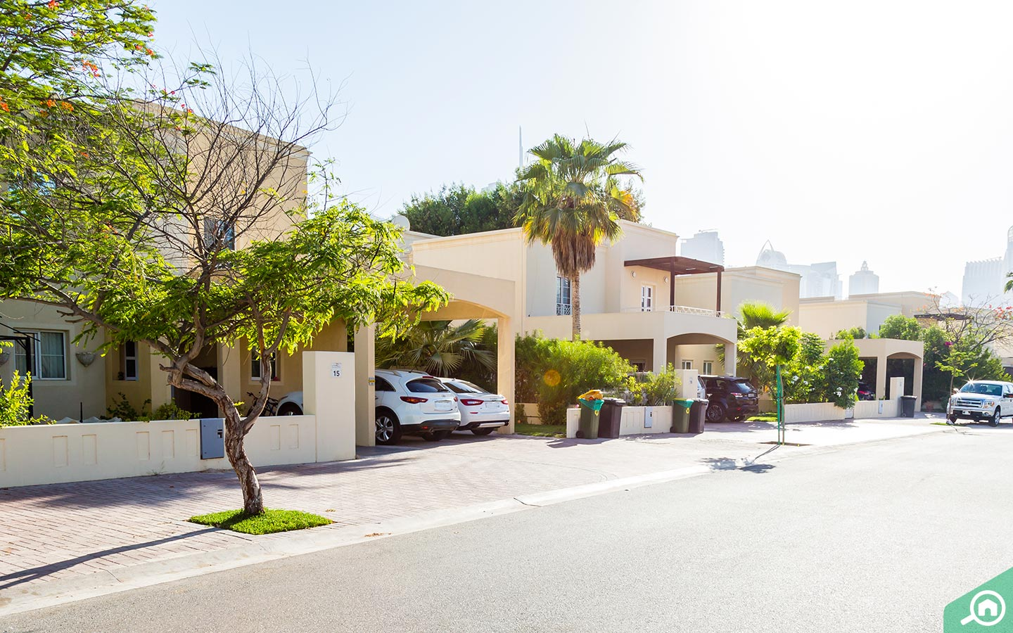 Street view of freehold villas in Meadows