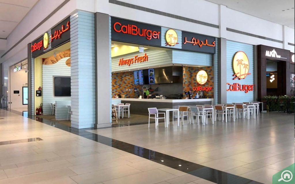 A restaurant in Manar Mall food court