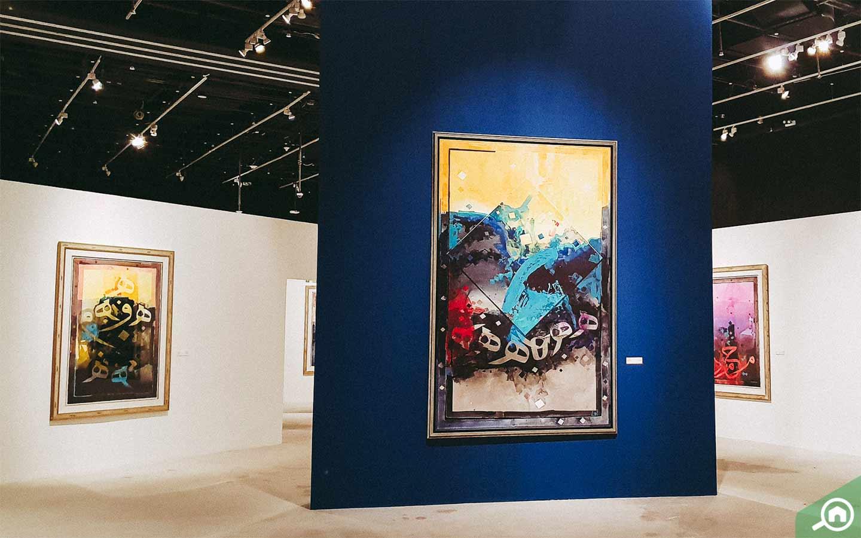 View of artwork at Manarat Al Saadiyat, cultural places to visit in Abu Dhabi