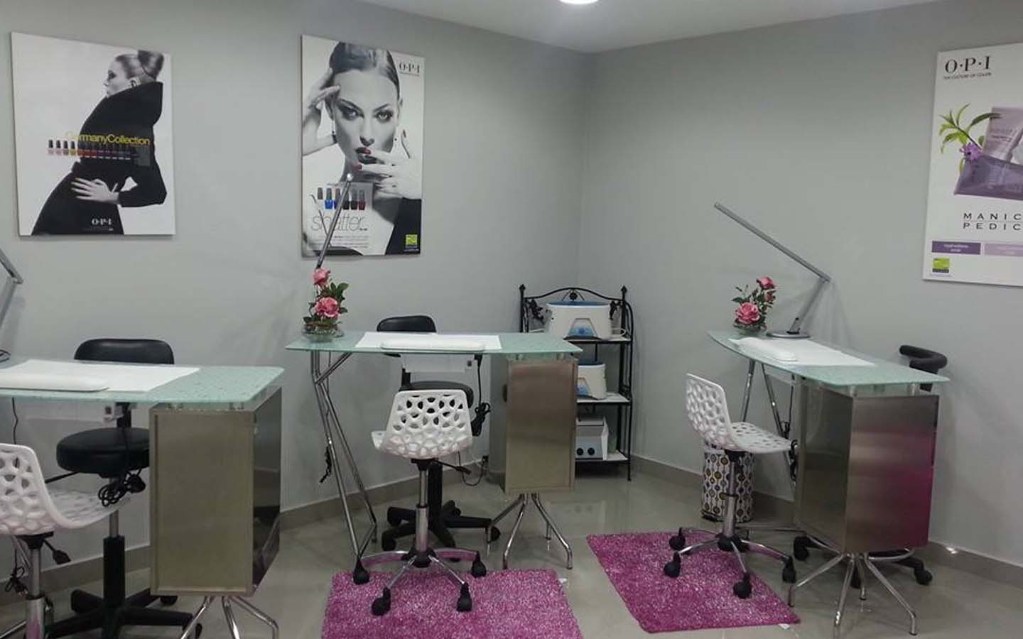 Manicure station at Riviera Beauty Center in Fujairah