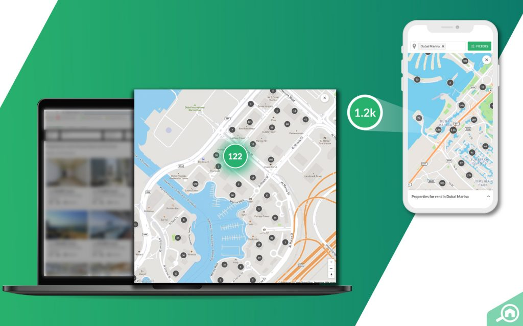 Map View interface on desktop and mobile