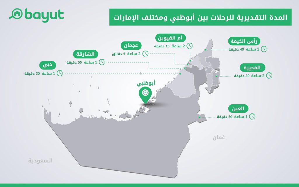 تعر ف على خريطة الامارات ومواقع إماراتها السبع والدول المجاورة ماي بيوت