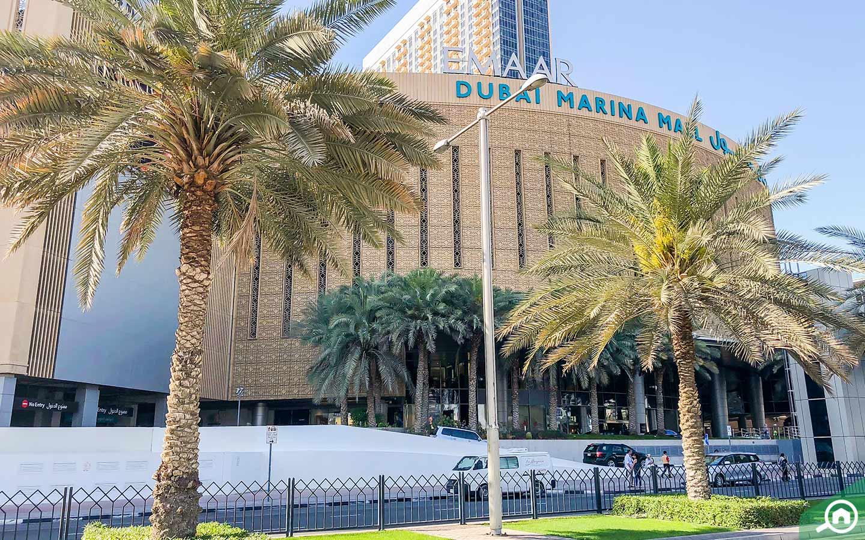 Dubai Marina Mall is one of the top 10 malls in Dubai