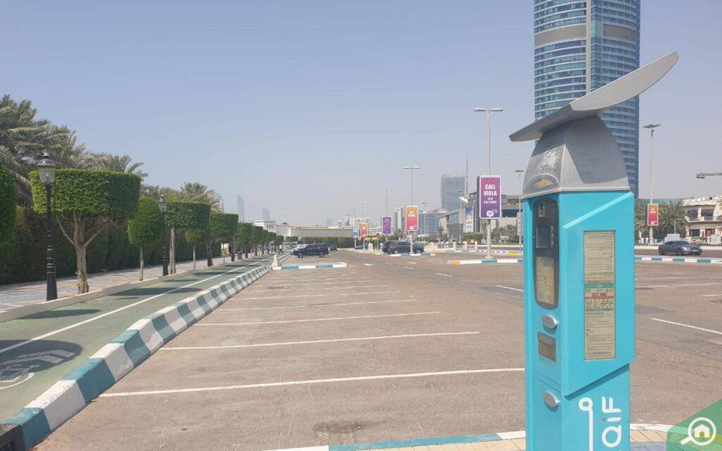 Standard parking in Abu Dhabi