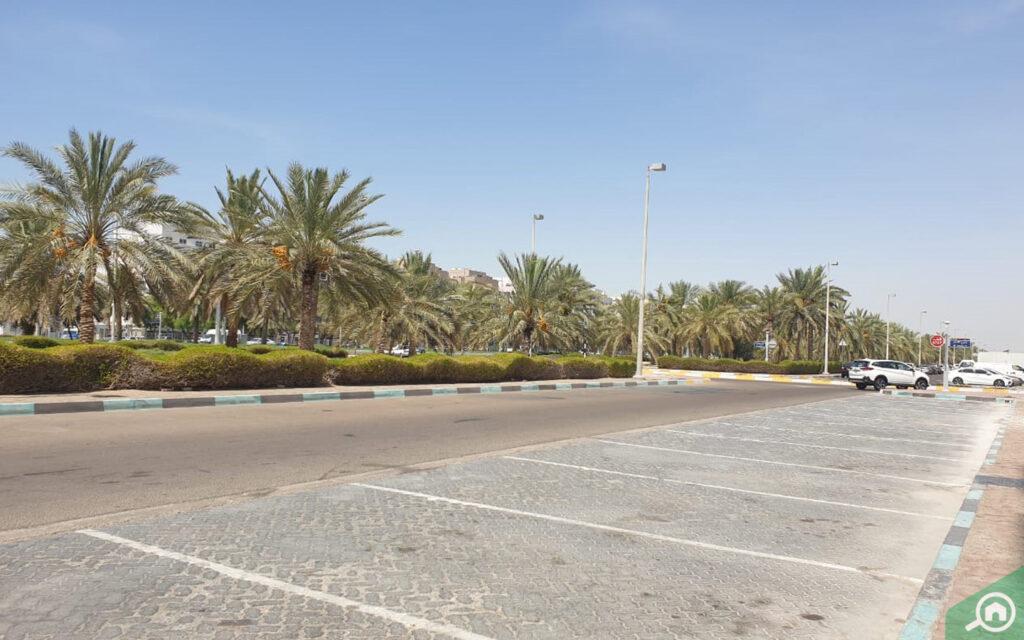 Parking spot in Abu Dhabi