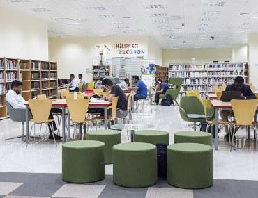 Interior of public Libraries in Abu Dhabi