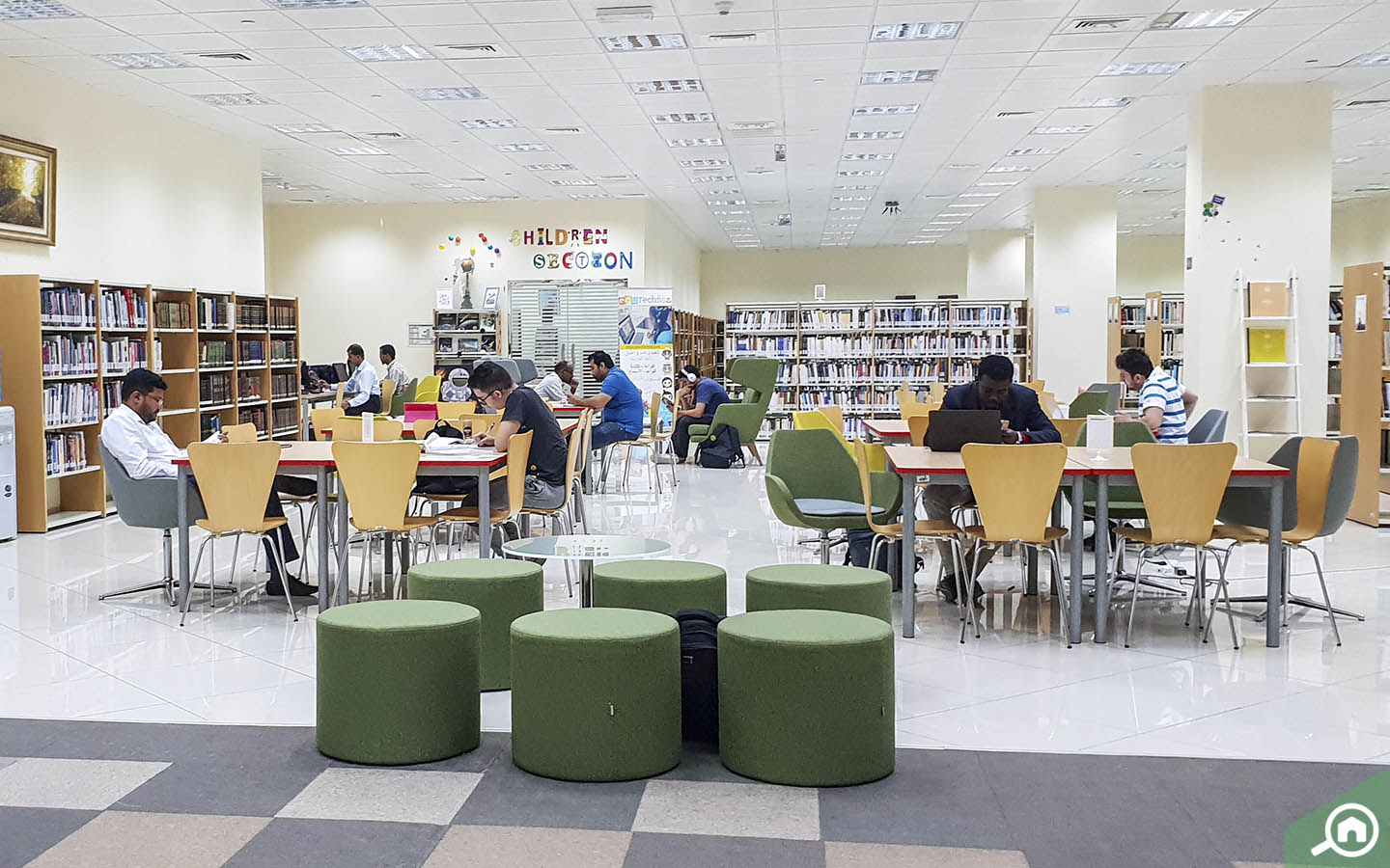 Interior of the Public Libraries in Abu Dhabi