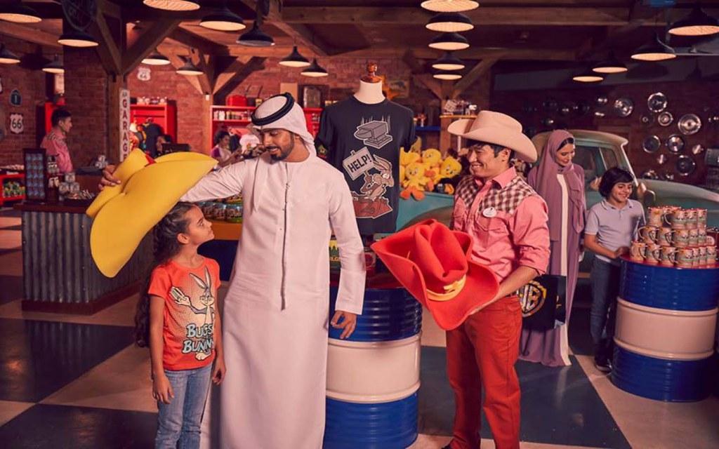 Merchandise shop in WB World Abu Dhabi