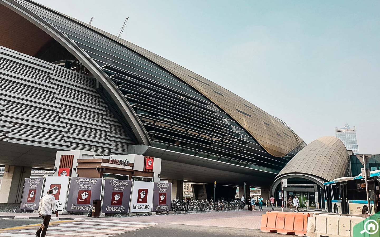 Dubai Metro Station near Dubai Mall