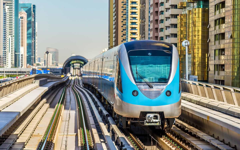 Red Line Metro in Dubai