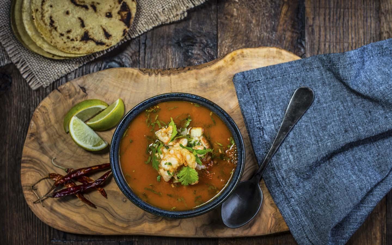 Caldo de Camaron, Mexican prawn soup