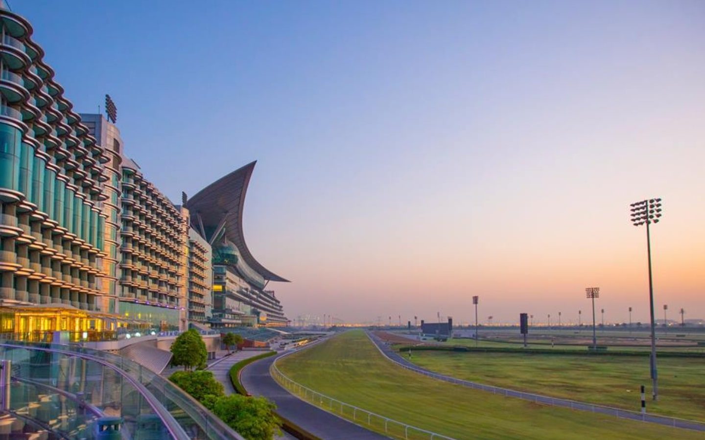 View of The Meydan Hotel and racecourse