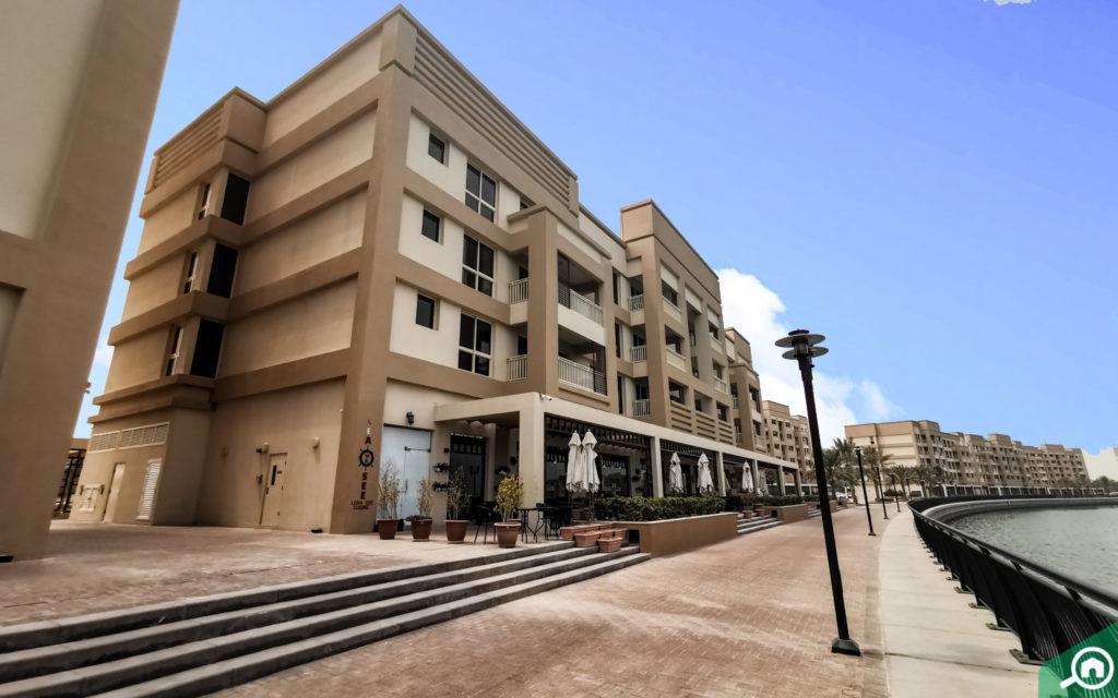 Street view of apartments in Mina Al Arab Ras Al Khaimah