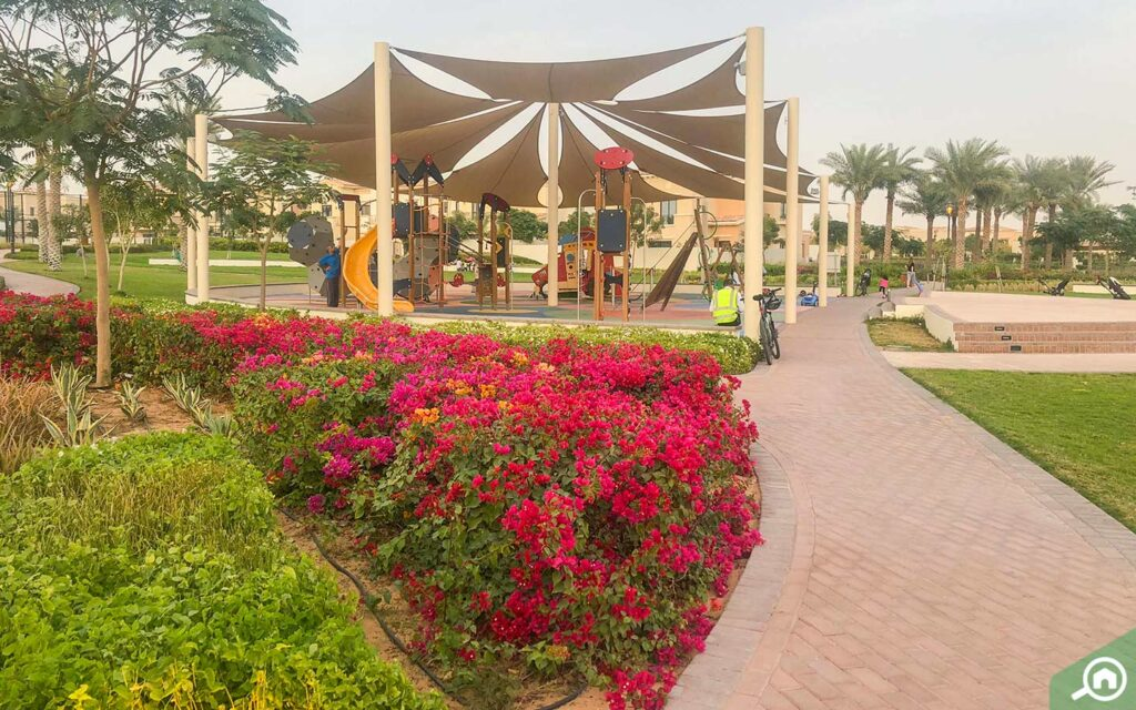 Community park in Mira with kids play area