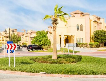 Street view of villas for sale in Mirdif Dubai