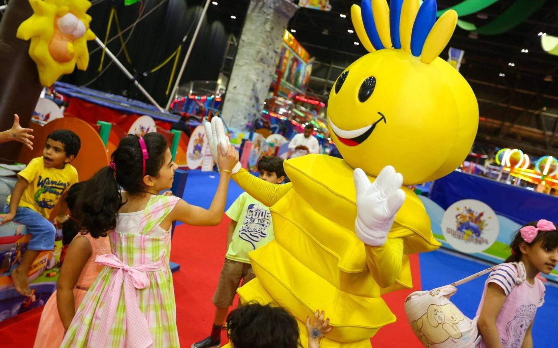 Kids enjoying at Modhesh World during Dubai Summer Surprises