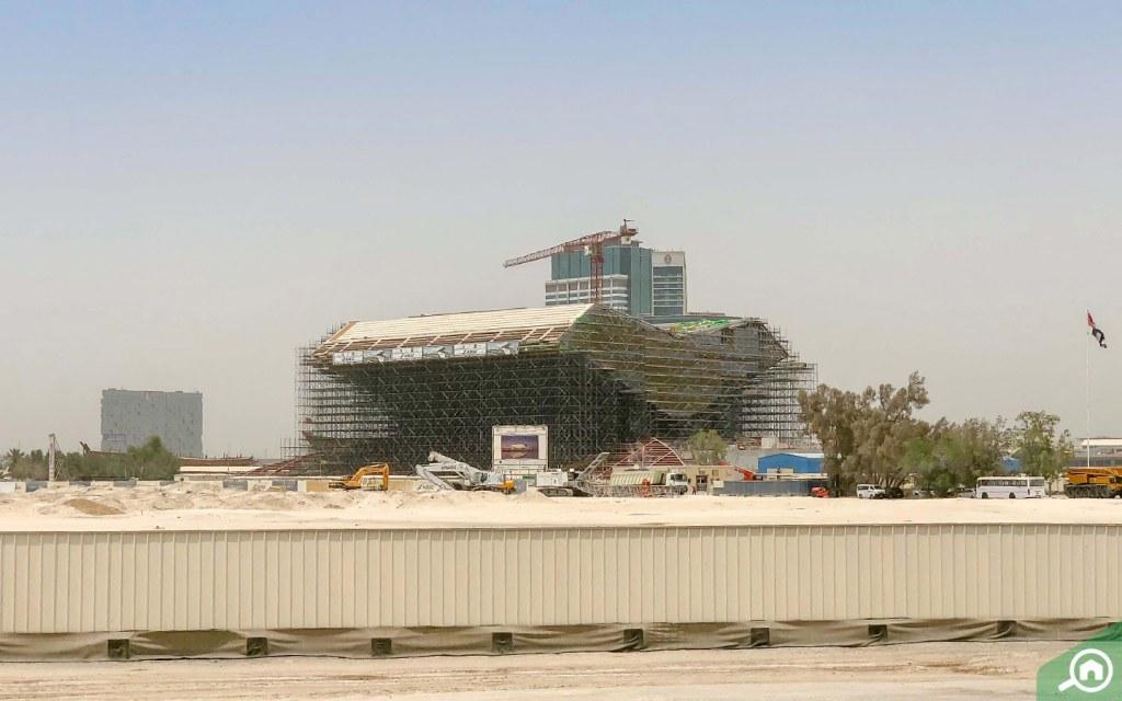 Mohammed Bin Rashid Library under construction