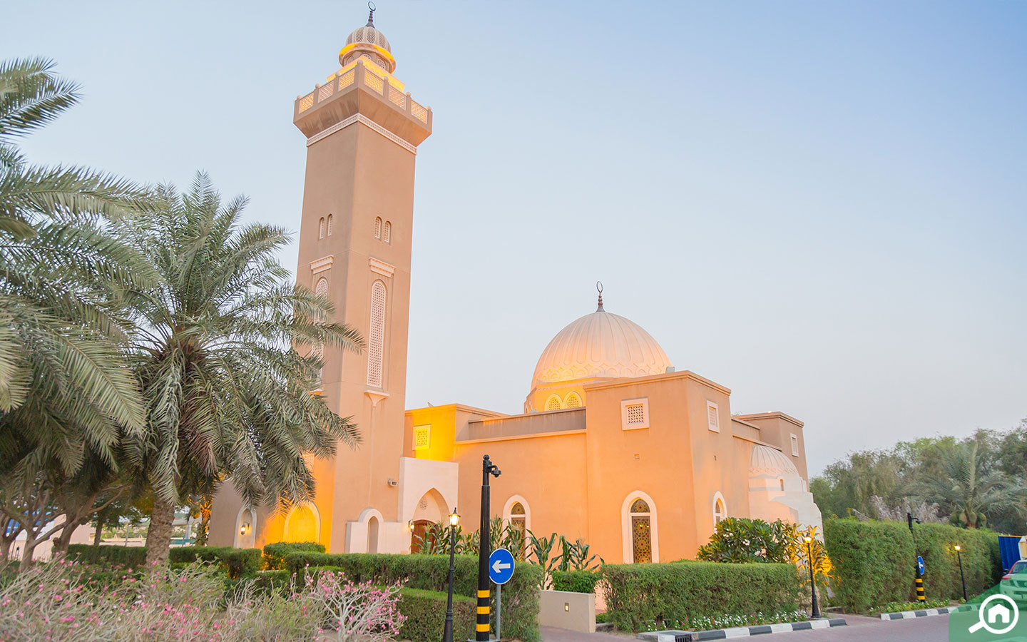 View of mosque in the Arabian Ranches community