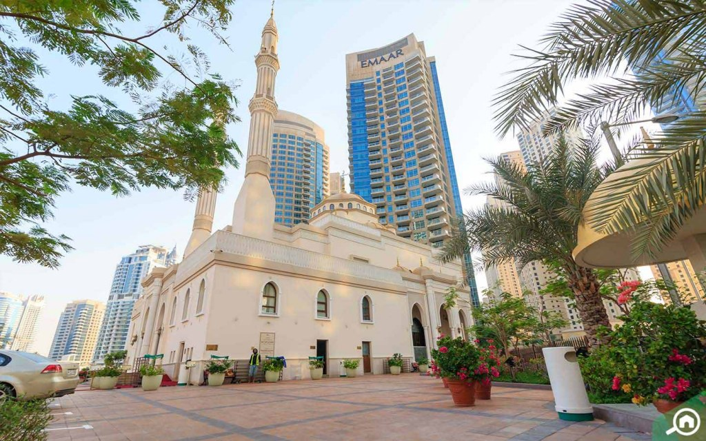 A mosque in Dubai Marina