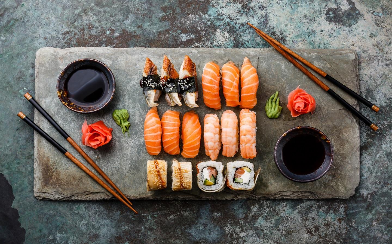 Sushi Japanese cuisine at La Mer Dubai