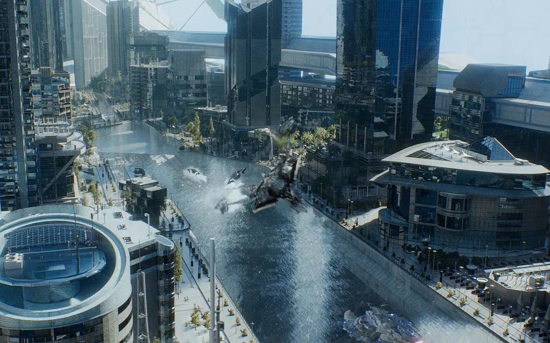 Star Trek movie scene in Dubai