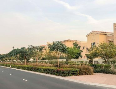 Street view of Mira, a community with affordable 3-bedroom villas for sale in Dubai