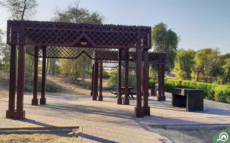 Barbecue spots in Mushrif Park in Dubai
