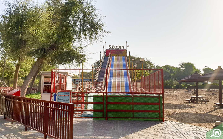 Play areas in Mushrif Park in Dubai