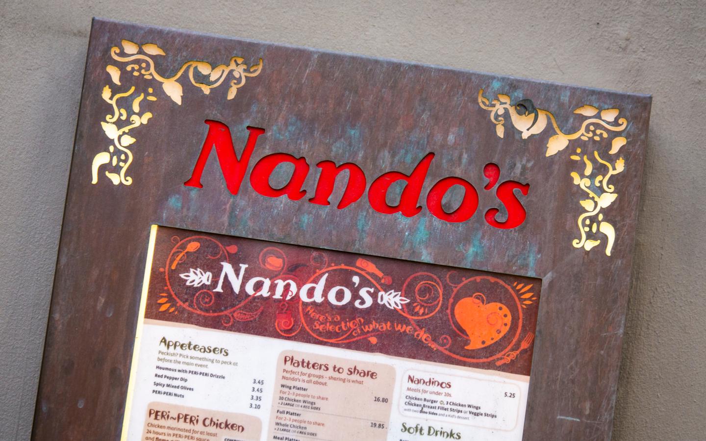 قائمة طعام مطعم ناندوز