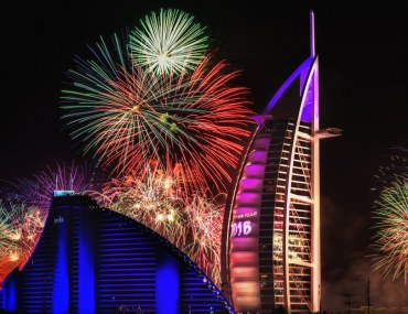Fireworks during New Year's Eve in Dubai
