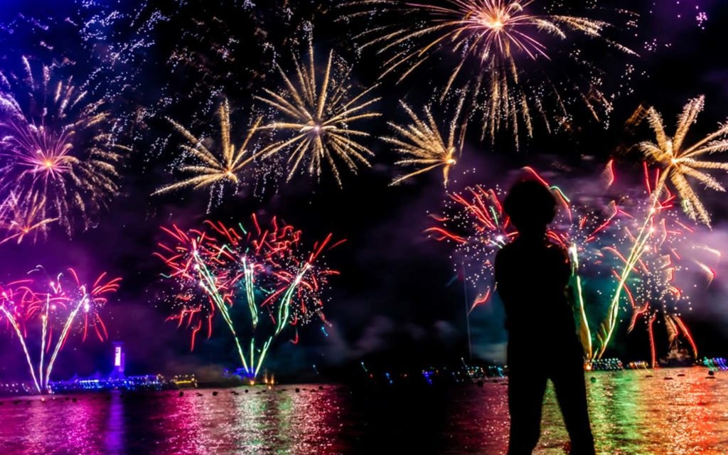 New Year's fire works in Dubai