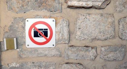 no photography warning sign