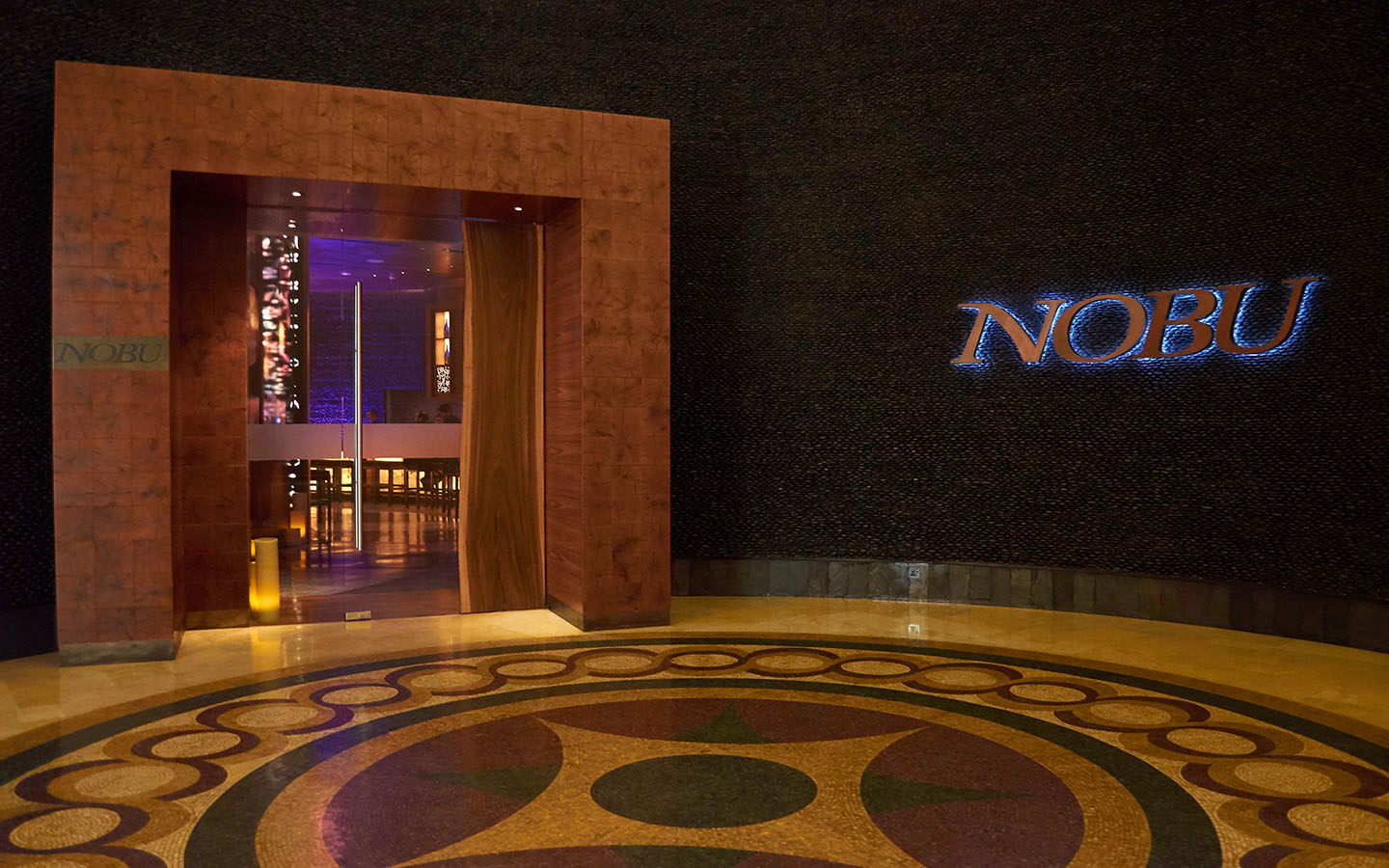 Entrance of Nobu restaurant Palm Jumeirah