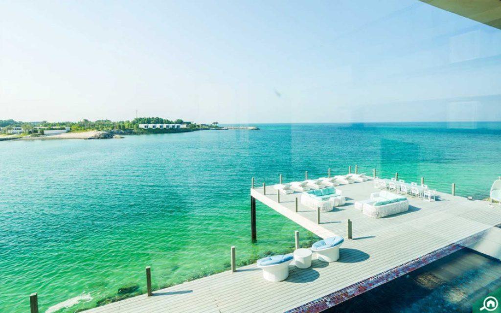 outdoor seating at a Nurai Island villa