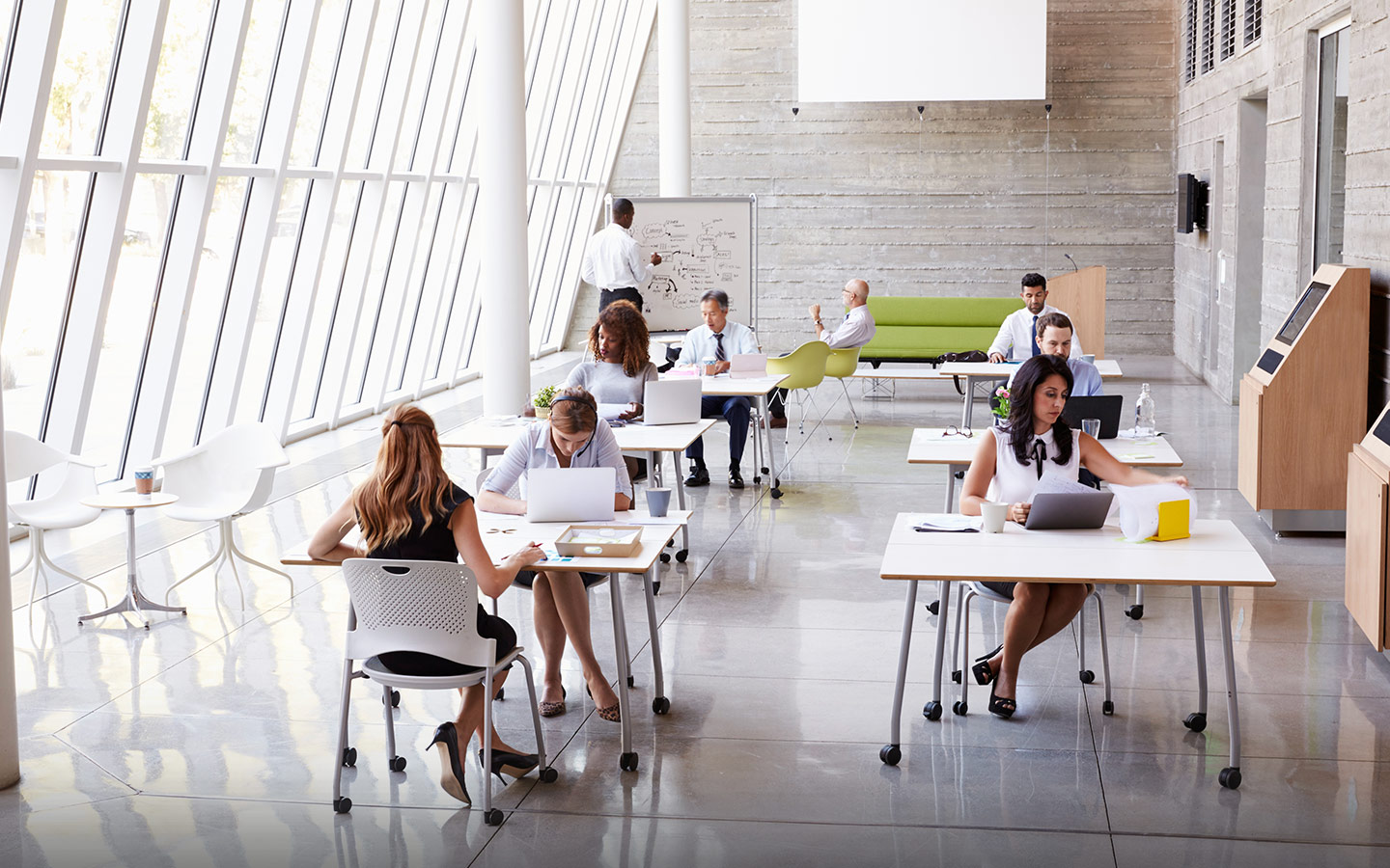 5 Office Design Trends To Make Your Workplace Awesome In 2018 Interior Design Contractor Consultant