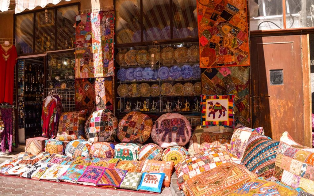View of an accessories shop in Old Souk Dubai