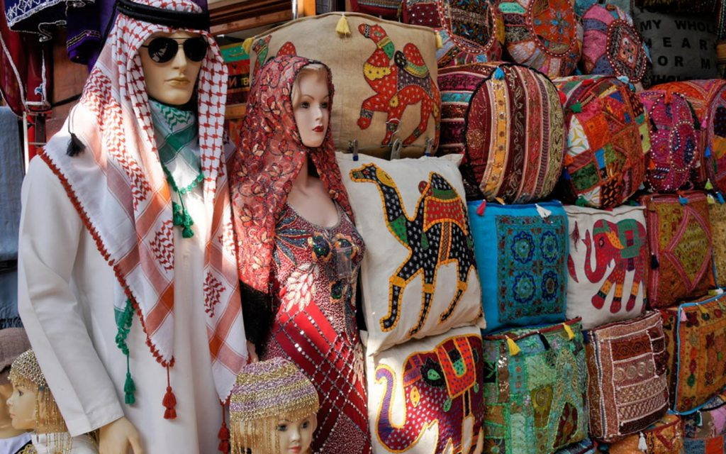 A clothing store in Old Souk Dubai