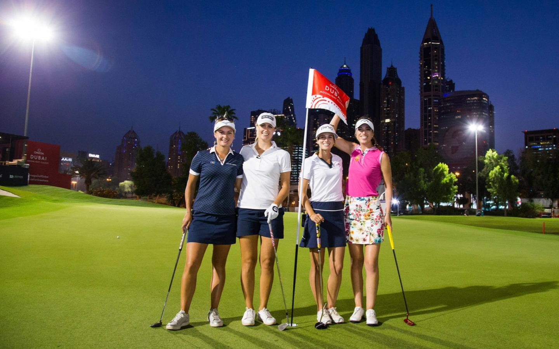 Golfers at Emirates Golf Club