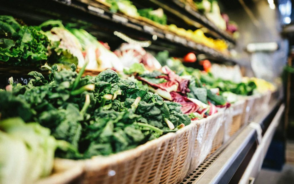 Fresh produce displayed at the supermarket, for online grocery shopping UAE Sharjah