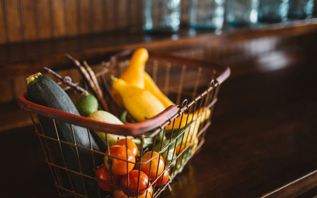 Fruits in a basket, for online grocery in Sharjah
