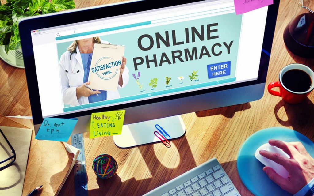 Man shopping online for medication at the top online pharmacies in Dubai