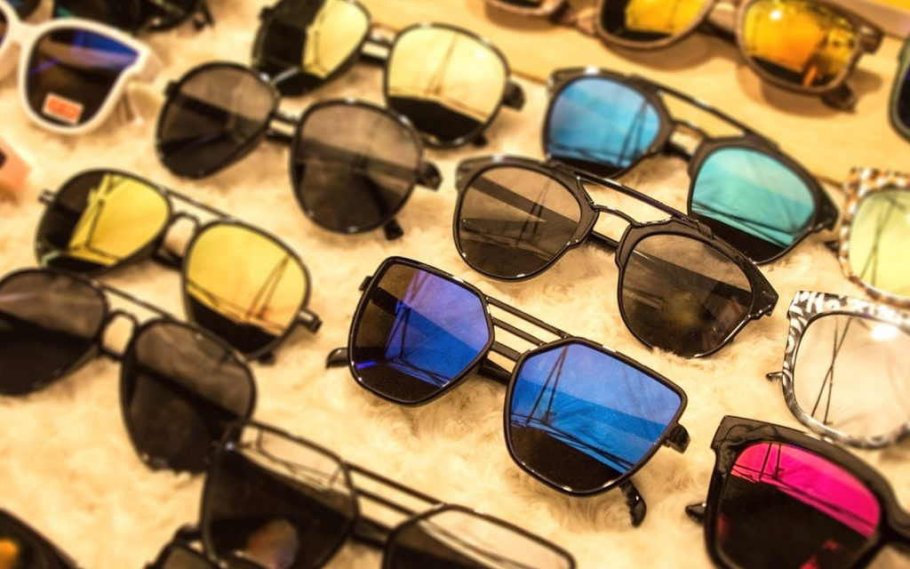 colourful spectacles in a shop
