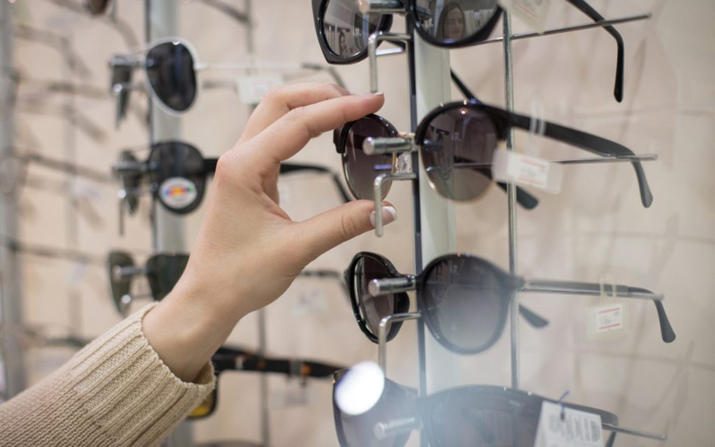 spectacles in a shop