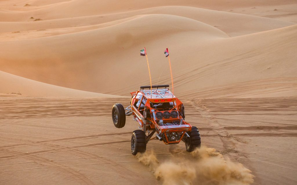 Dune bashing on a Dune Buggy in the UAE is one of the most popular outdoor adventures in the UAE