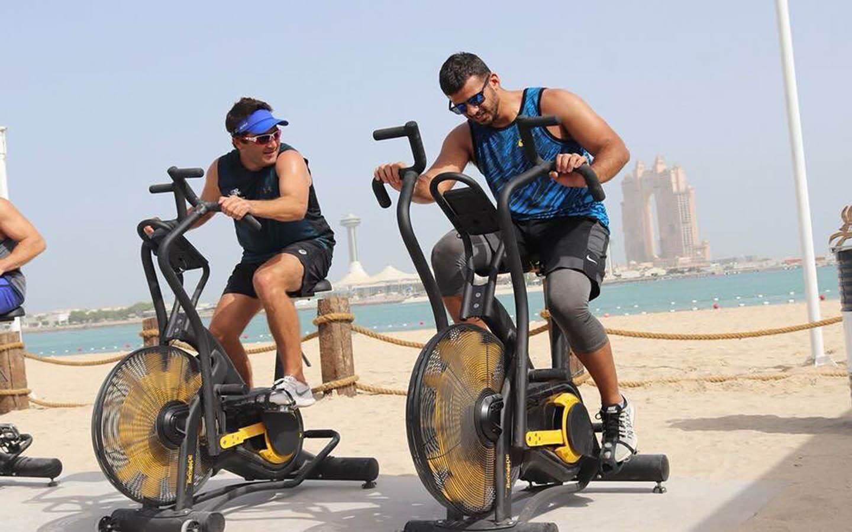 Outdoor fitness at Al Bahar