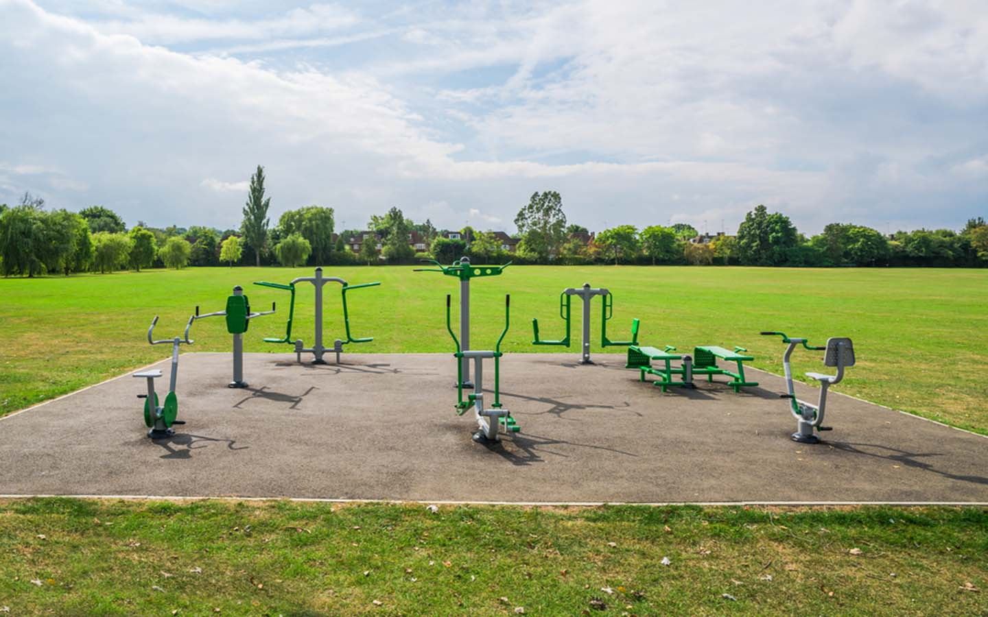 A view of an outdoor gym