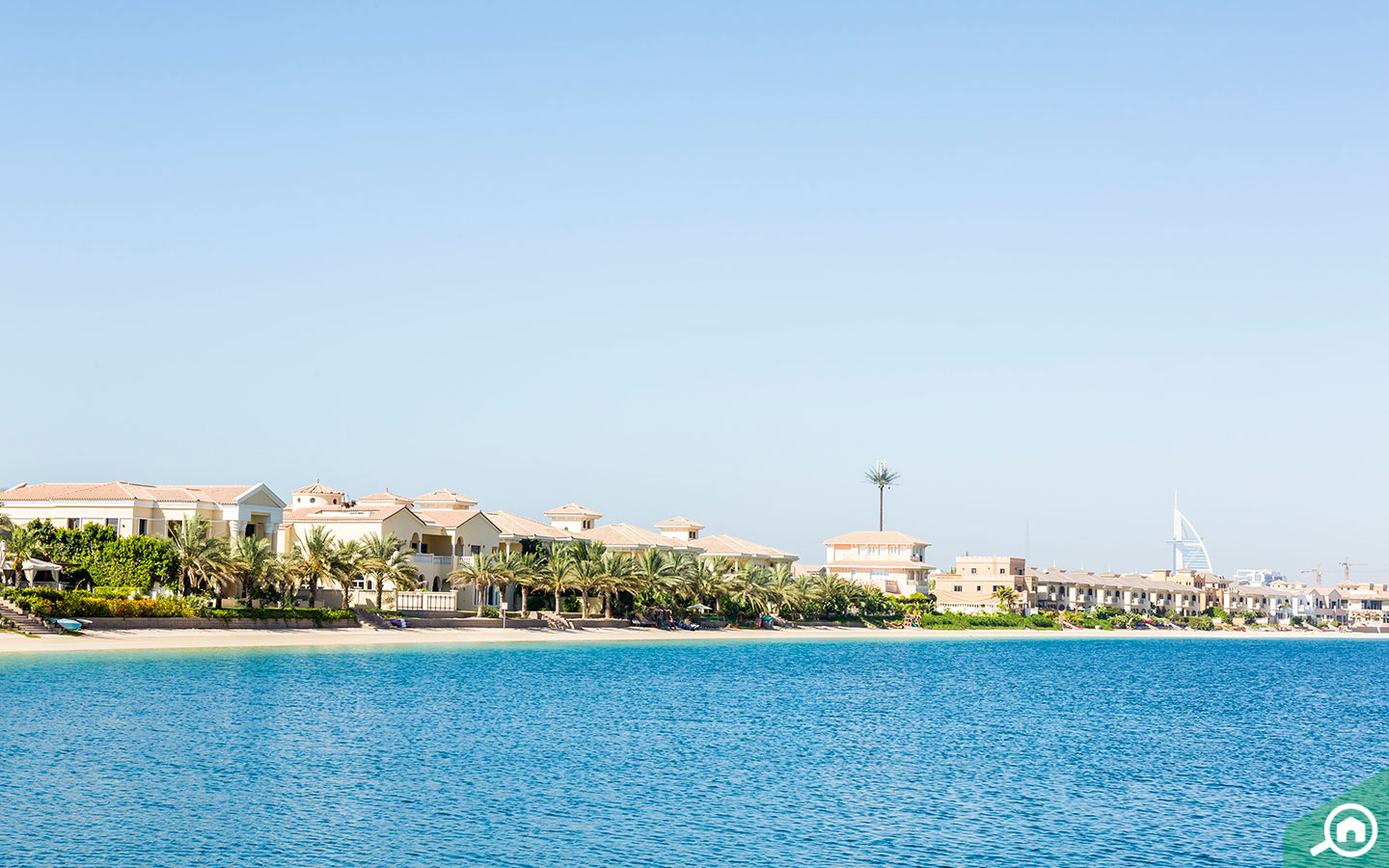 The Palm Jumeirah consists of exotic beaches and resorts