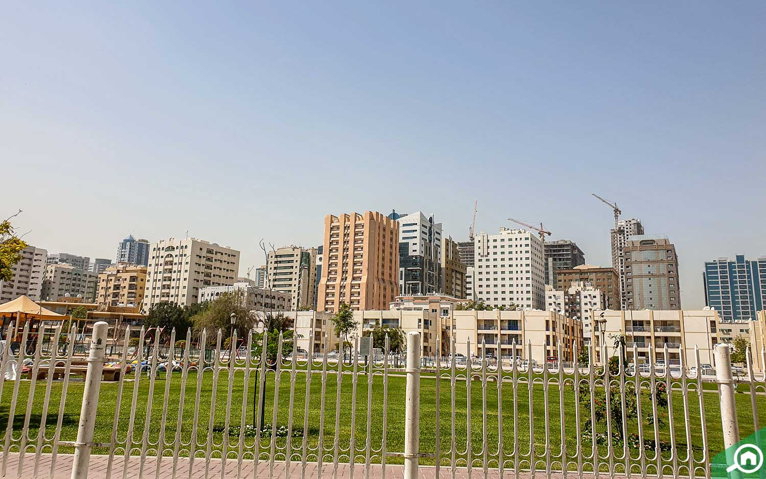 parks and buildings in Abu Shagara